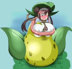 breasts fangs huge_breasts leaf mei_(pokemon) pokemon pokemon_(game) pokemon_bw2 solo victreebel vines vore