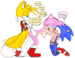 amy_rose anal anal_sex balls blush breasts chains cuckold cum excito female furry_only male nipples penetration penis sega sex sonic_(series) sonic_the_hedgehog sonicharinezumi straight tears text