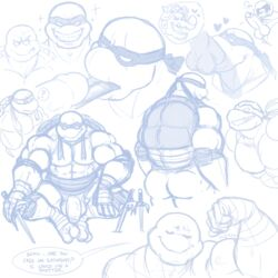 ? abs anothermeekone anthro ass balls biceps deep_throat english_text erection fellatio flexing heart hi_res male mask muscular muscular_male oral pecs penis raphael_(tmnt) reptile rocksteady scalie sex smile speech_bubble teenage_mutant_ninja_turtles text tongue tongue_out turtle uncut weapon yaoi