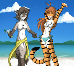 anthro breasts chest_tuft feline female flora_(twokinds) fur hair kathrin keidran long_hair mammal nude open_mouth stripes tiger tom_fischbach tuft twokinds