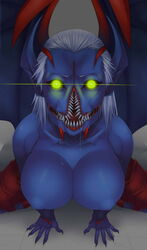 demon dota_2 female female_only glowing_eyes looking_at_viewer night_stalker open_mouth rule_63 tagme video_games wings