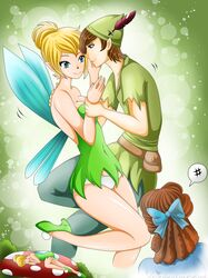 dreaming panties peter peter_pan shadako26 tinker_bell wendy_darling white_panties