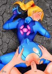 anal animated blonde_hair crotch_cutout metroid penis samus_aran sijix torn_clothes uncensored zero_suit