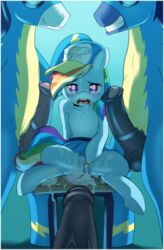 cum cum_in_pussy equine friendship_is_magic furry hat my_little_pony penis pussy rainbow_dash rainbow_dash_(mlp) skirt spread_legs wonderbolts wonderbolts_(mlp)