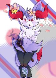 anime braixen cherrim cute no_humans obakawaii pokemon shiny_pokemon