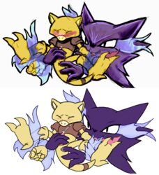 abra angelofhapiness blush colors cum cumshot fingering forced furry_only gay haunter immobilized invalid_background male masturbation nintendo no_humans orgasm pokemon rape video_games