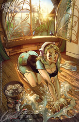 bent_over blonde_hair blue_eyes dirt disney fairy_tale fairy_tale_fantasies
