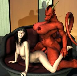 dickgirl dragon female futa_on_female futanari red uncensored vic34677