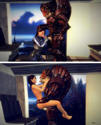 ashley_williams krogan mass_effect mass_effect_3 uncensored vittorio wrex