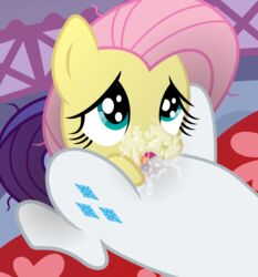 2014 cunnilingus cutie_mark equine eyelashes female fluttershy_(mlp) friendship_is_magic fur hair hi_res horn licking mammal multi-colored_hair my_little_pony nerfpony oral oral_sex pegasus pussy pussy_juice rarity_(mlp) sex tongue unicorn vaginal_penetration wings yuri
