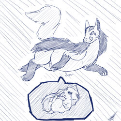 animal_genitalia blush canine canine_penis crying duo eeveelution espeon female feral forked_tail gurgle hyena internal knot licking licking_lips male mammal mightyena monochrome nintendo open_mouth pawpads paws penis pokemon shikaro sketch smile sound tears tongue tongue_out video_games vore