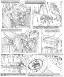 5-d anal anal_insertion anal_sex anal_vore anus ass big_anus big_ass big_butt butt claws closed_eyes comic crush death english_text feet gino godzilla godzilla_(series) huge_anus human hyper_anus insertion lizard macro male mammal micro monochrome monster paws penetration presenting presenting_hindquarters rampage reptile scalie sitting size_difference smile smiling squish squishing stomp vore zilla