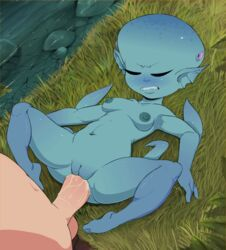 anal animated blue_nipples blue_skin blush breasts closed_eyes female human interspecies male mammal navel nipples ocarina_of_time princess_ruto pussy stomach_bulge the_legend_of_zelda theboogie uncensored video_games zora