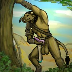 balls bovine clothing horn loincloth male mammal masturbation orgasm peeing sirtroglodon solo tauren tree urine video_games warcraft watersports world_of_warcraft