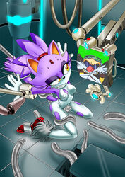 blaze_the_cat corruption eggman_nega kandlin sega sonic_(series) tagme tentacle torn-clothes