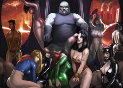 6+girls 9girls anus areola ass bald ball_gag ball_sucking batman_(series) bent_over big_barda black_canary black_hair blindfold blonde_hair blood bodysuit bondage breast_out breasts breasts_out broken_rape_victim brown_hair brown_skin bruises cape catwoman chained chains character_request cleavage cleavage_cutout costume cum cum_trail cumdrip dark-skinned_female dark_skin darkseid dc defeated detached_sleeves erect_nipples excessive_cum fat_mons female female_fox gigantic_penis gigantic_testicles gloves goggles grey_skin hair harem head_grab hips huge_cock huntress injury justice_league kaihlan large_breasts large_penis leotard licking_testicles long_hair looking_at_viewer looking_away mari_mccabe mary_batson mary_marvel mask mera mera_(dc_comics) meta multiple_girls navel nipple nipples no_bra pale_skin penis perky_breasts plump_vulva power_girl pubic_hair pussy red_eyes red_hair restrained selina_kyle sex_slave shackles shazam short_hair skin_tight slave small_ass supergirl testicles the_new_gods thick_thighs thighs thong vagina veiny veiny_penis vixen_(dc) wide_hips wonder_woman