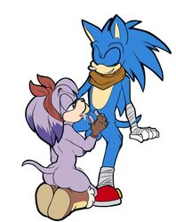 anthro ass balls bandana boots breasts clothing duo erection fellatio female gloves hair kayla-na licking male mammal nipples nude open_mouth oral oral_sex penis perci_(artist) plain_background pussy sega sex smile sonic_(series) sonic_boom sonic_the_hedgehog straight tongue tongue_out video_games white_background