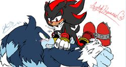 anal angelofhapiness furry_only gay shadow_the_hedgehog soina sonic_(series) sonic_the_werehog werehog