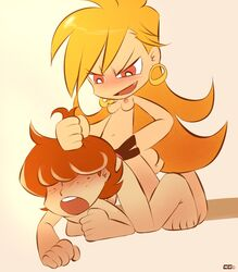 brief femdom hair_pulling panty panty_and_stocking_with_garterbelt pegging