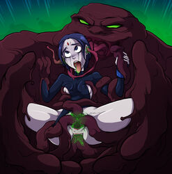 ahe_gao all_the_way_through anal anal_sex crying dc double_penetration ear_penetration female monster plasmus raven sparrow sparrow_(artist) tears teen_titans tentacle torn_clothes vaginal_penetration vaginal_sex