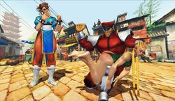 cammy_white chun-li m_bison rose-by-another-name spanked spanking street_fighter