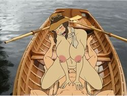 1boy animated animated areolae artist_request blush boat breasts female hena huge_breasts link nintendo nipples nude plump sex shaved_pussy the_legend_of_zelda twilight_princess uncensored vaginal_penetration