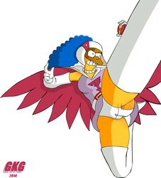 action_pose camel_toe cosplay gatchaman gkg jun_the_swan marge_simpson the_simpsons upskirt