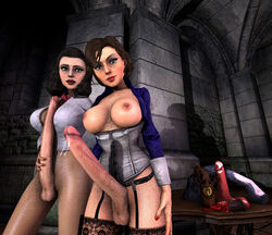3d balls big_penis bioshock bioshock_infinite burial_at_sea dildo elizabeth erection futanari intersex looking_at_viewer nipples precum source_filmmaker uncensored