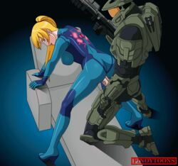 animated crossover female halo_(series) male master_chief metroid penis pinoytoons samus_aran sex uncensored video_games zero_suit