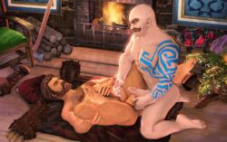 3d animated braum gay graves league_of_legends tagme yaoi