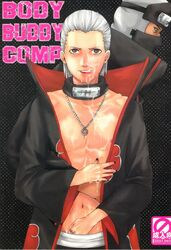 2boys body_buddy comic cover cum doujin gay hidan kakuzu male multiple_males naruto yaoi