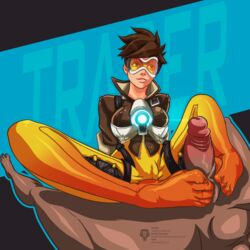 cameltoe clothed color feet footjob furanh overwatch tracer uncensored