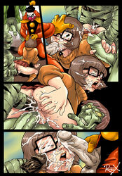 3boys all_fours anal ass ass_grab bottomless brown_hair bukkake clenched_teeth closed_eyes clothed_sex clown comic cowgirl_position cum cum_explosion cum_in_ass cum_in_mouth cum_in_pussy cum_inside cum_on_face cum_on_glasses cum_on_hair cum_on_penis cum_string cumdrip dark-skinned_male dark_penis dark_skin doggy_style double_handjob double_penetration ejaculation fellatio female foursome freckles from_behind gangbang glasses green_eyes green_skin group_sex hand_on_head handjob hands_on_head hanna_barbera highres interracial interspecies kneeling miniskirt monster mummy no_panties open_mouth penis r_ex rape scooby-doo short_hair spread_anus stockings sweater testicles tongue tongue_out turtleneck vaginal_penetration veiny_penis velma_dinkley yellow_eyes