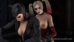 3d anal animated arm_gloves batman:_arkham_city batman_(series) belt big_penis blackjrxiii breasts catwoman clothes corset dc dickgirl female from_behind futa_on_female futanari gloves harley_quinn large_penis medium_breasts outfit ripped_clothing selina_kyle sfm shemale source_filmmaker suit thigh_highs thighhighs torn_clothes torn_clothing