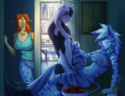 2014 anthro breasts caught clothed clothing diamond_(character) equine female giraffe group hair hooves horse kadath male mammal open_mouth orange_hair penetration penis pussy puzzle_(character) sex standing straight vaginal_penetration vaginal_penetration white_hair zebra