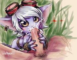 fellatio league_of_legends looking_at_viewer oral sex tagme tristana velvetqueenh