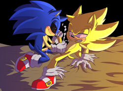 angelofhapiness anthro blush cat_ears claws creepypasta cum cum_string erection footwear furry_only gay gloves handjob hedgehog hypnosis looking_down lying male messy nude on_back orgasm penis quills sega sharp_claws sharp_teeth shoes smile sonic.exe sonic_(series) sonic_the_hedgehog super_sonic video_games