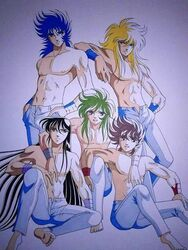 andromeda_shun cignus_hyoga dragon_shiryu male_only pegasus_seiya phoenix_ikki saint_seiya shirtless