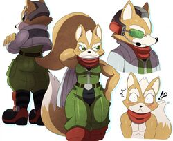 ! :< ? anthro ass blush boots butt clothing dat_ass footwear fox fox_mccloud fur jacket looking_at_viewer looking_away male manly muscles nintendo nude pants pecs shirt smile solo sssonic2 standing star_fox towel video_games