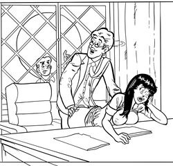 archie_andrews archie_comics bent_over bent_over_desk betty_and_veronica breasts caught from_behind hiram_lodge incest veronica_lodge