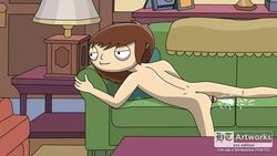 ass couch cum cumshot family_guy ht_artworks male male_only nude penis sofa solo stewie_griffin