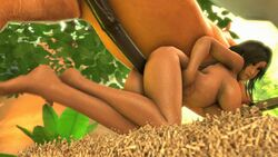 3d all_fours animated barefoot bent_over biting_lip black_hair bouncing_breasts breasts dark_skin equine farah feet female from_behind hair hand_on_belly holding_belly horse horsecock huge_balls huge_cock human interspecies kneeling large_breasts legend_of_queen_opala long_hair looking_back male milf mounted nipples noname55 nude penis sex source_filmmaker thrusting zoophilia