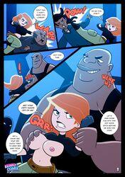 breast_grab breasts dark-skinned_male dark_skin english_text female interracial kennycomix kim_possible kimberly_ann_possible large_breasts multiple_males risketcher text