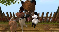 1boy 3d 3girls anthro areolae ass big_ass big_breasts breasts captive captured collection damsel distress emily_equine equine excited female furry giant harness high_heels horse huge_ass huge_breasts imminent_rape macro male mammal micro minigirl multiple_girls nipples nude panting platform_heels pony size_difference size_play stable tree_house voluptuous