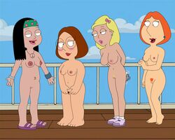 american_dad becky_arangino family_guy female female_only hayley_smith human lois_griffin meg_griffin multiple_females