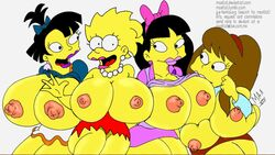 allison_taylor big_breasts breasts female gigantic_breasts human jessica_lovejoy lisa_simpson maxtlat nikki_mckenna the_simpsons