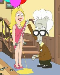 american_dad francine_smith mole peeing roger_smith