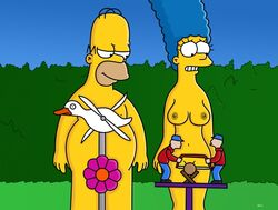 breasts funny homer_simpson marge_simpson nude the_simpsons wvs1777