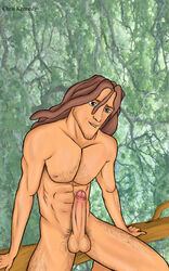disney hairy human male male_only nude sitting solo tarzan