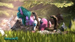 3d after_sex ambrosine92 breasts cum forest night_elf nude riding sex tyrande_whisperwind warcraft wolf world_of_warcraft zoophilia